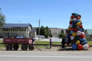Weihnachtsbaum an der RN 40, Chile