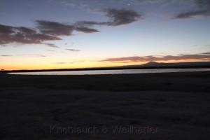 Unser Schlafplatz an der Laguna Tebinquinche von dem wir dann leider vertrieben wurden. Chile