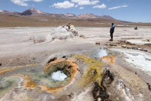Geysir Landschaft, Geothermalgebiet El Tatio, Chile