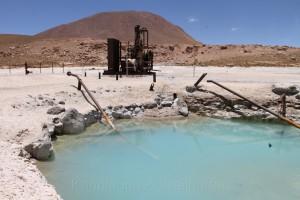 stillgelegtes Wärmekraftwerk, Geothermalgebiet El Tatio, Chile