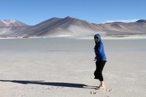 Salar aguas calientes, Ruta 23, Richtung Grenzübergang Paso Sico, Region de Antofagasta, Atacamawüste, Chile. Birgit Knoblauch