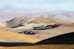 Berglandschaft, Ruta 23, Richtung Grenzübergang Paso Sico, Region de Antofagasta, Atacamawüste, Chile