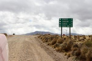 Straße nach Santa Ana , Provinz Jujuy, Argentinien