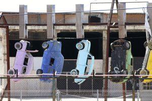 Kunst an der Küstenstraße von Valparaíso, Chile