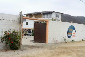 Unser Hostel in Boca de Briceño, Ecuador
