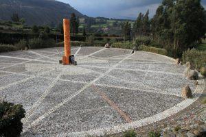 Äquator Denkmal in Ecuador bei Cayambe