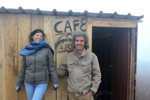 Café auf 4800 m, Chimborazo, Ecuador, Birgit Knoblauch und Peter Weilharter